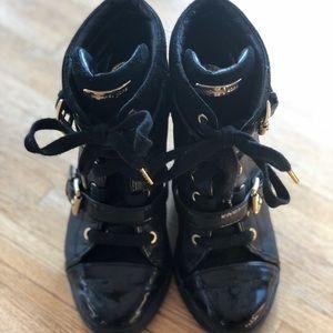 Black Michael Kors Sneaker Heels
